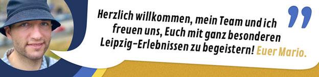 """Titelbild Segway Touren, Stadtführungen, Stadtrundgänge in Leipzig: """"Herzlich willkommen, mein Team und ich freuen uns, Euch mit einem ganz besonderen Leipzig-Erlebnis zu begeistern! Euer Mario."""""""