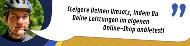 """Titelbild Internetshop: """"Steigere Deinen Umsatz, indem Du Deine Leistungen im eigenen Online-Shop anbietest!"""""""