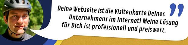 """Titelbild Internetseite erstellen mit Jimdo: """"Deine Webseite ist die Visitenkarte Deines Unternehmens im Internet! Meine Lösung für Dich ist professionell und preiswert."""""""
