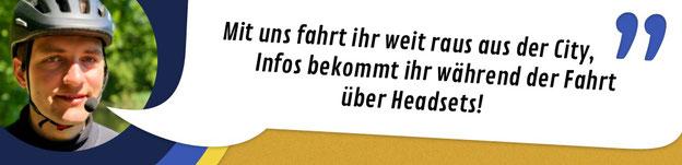 """Titelbild Segway Touren in Leipzig: """"Mit uns fahrt ihr weit raus aus der City, Infos bekommt ihr während der Fahrt über Headsets!"""""""