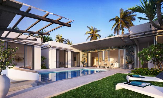 Villas haut de gamme GRAND BAIE résidence LE MONT OLYMPE ILE MAURICE
