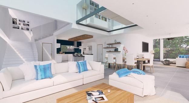 nouvelle résidence de maison PDS contemporaine Le mont olympe à PEREYBERE GRAND BAIE ILE MAURICE