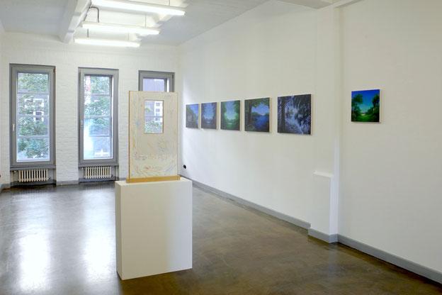 """Ausstellungsansicht """"wrapped in rainbows"""" Berlin 2016 , Studio 1 der Kunststiftung Baden-Württemberg in Berlin"""