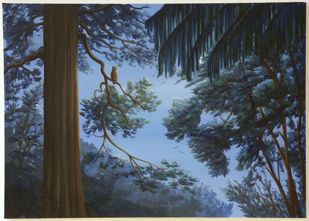 Smugglers' Moon Part III 2016, 70 x 50 cm Acryl auf Leinwand