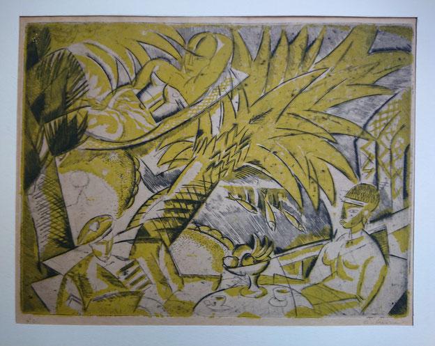 Dufresne, Le repos, 1919, 25 ex., 21,2 x 28,1 cm.
