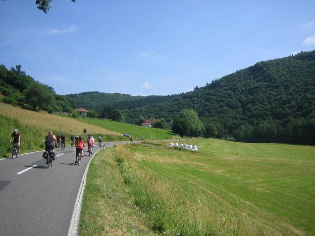 Radfahren beim autofreien Gelbachtal