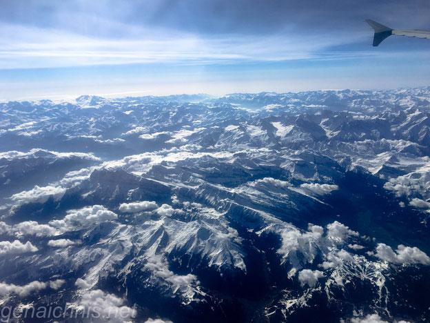 Anreise wieder über die Alpen......