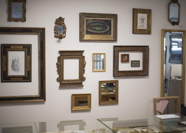 Bilderrahmen, Picture Frame, Spiegel, Mirror, Gold, Stilrahmen, Vergoldet