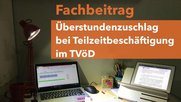 Überstundenzuschlag Teilzeitbeschäftigung TVöD Bundesarbeitsgericht