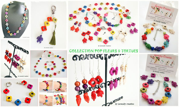 COLLECTION POP FLEURS ET TORTUES