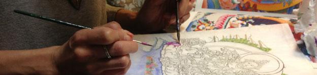 仏画体験ワークショップ初心者歓迎
