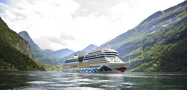 Schiffsposition & Webcam von AIDAblu // © AIDA Cruises