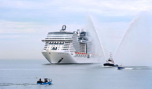 Schiffsposition & Webcam der MSC Meraviglia // © MSC Kreuzfahrten