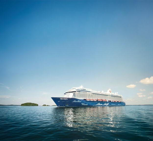 Schiffsposition & Webcam der Mein Schiff 6 // © TUI Cruises