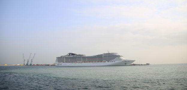 Schiffsposition & Webcam der MSC Fantasia // © MSC Kreuzfahrten