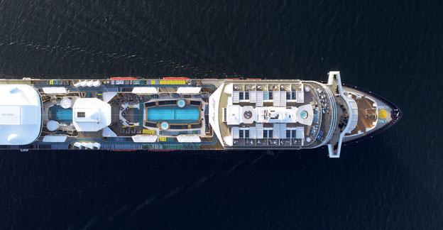 Schiffsposition & Webcam der Mein Schiff 2 // © TUI Cruises