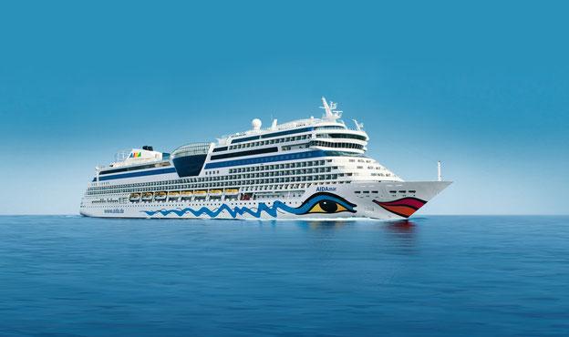 Schiffsposition & Webcam von AIDAmar // © AIDA Cruises