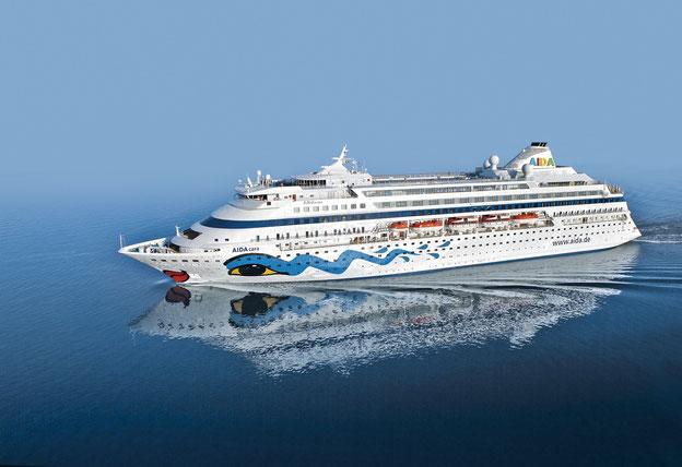 Schiffsposition & Webcam von AIDAcara // © AIDA Cruises