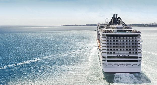 Schiffsposition & Webcam der MSC Divina // © MSC Kreuzfahrten