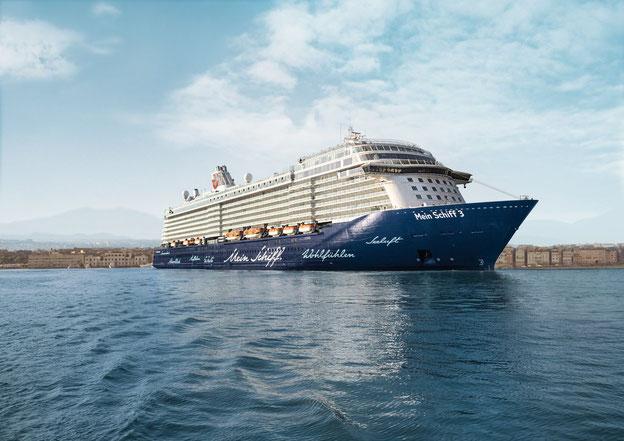 Schiffsposition & Webcam der Mein Schiff 3 // © TUI Cruises
