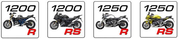 BMW R 1200 R, BMW R 1250R, BMW R 1200 RS, BMW R 1250 RS