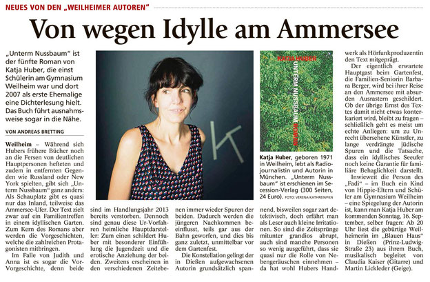 VON ANDREAS BRETTING, Weilheimer Tagblatt, 13.09.2018