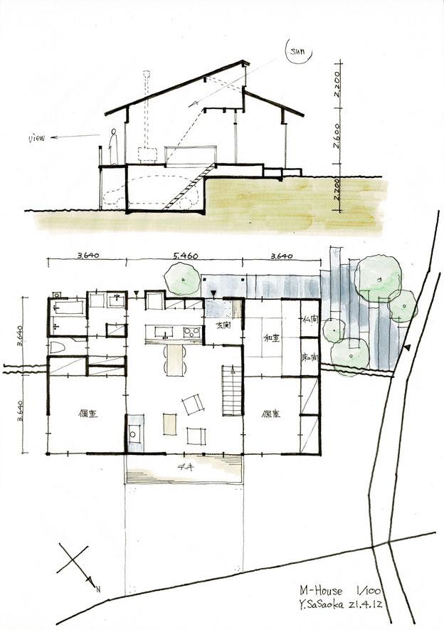 邑南町の家、基本プラン