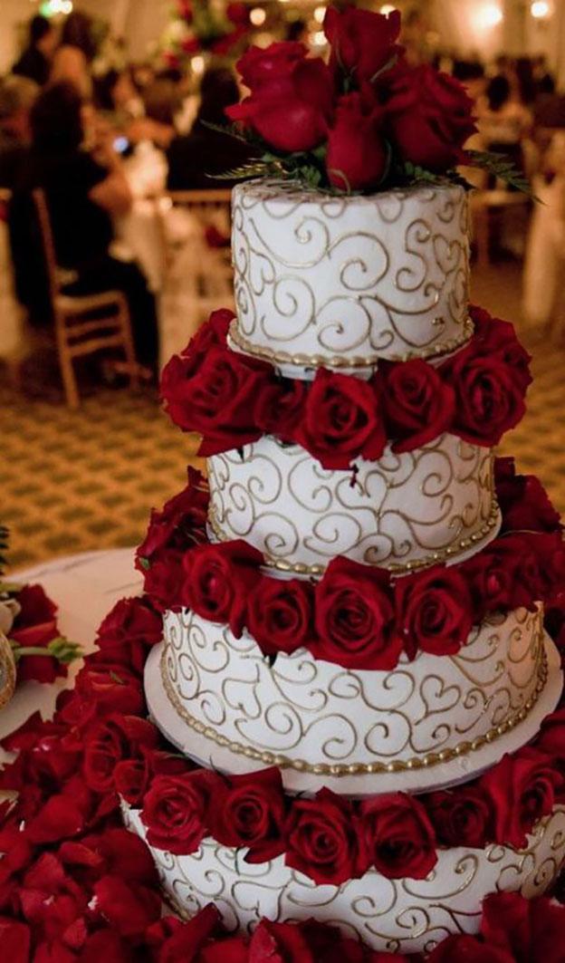 pastel grande elegante para boda