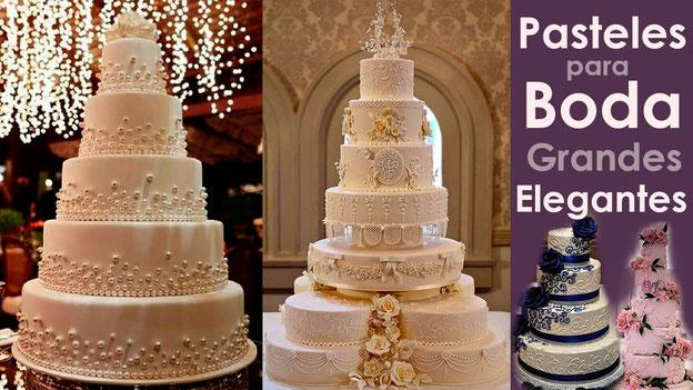 pasteles para boda elegantes tamaño grande