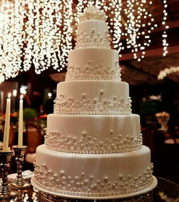 torta para boda elegante tamaño grande