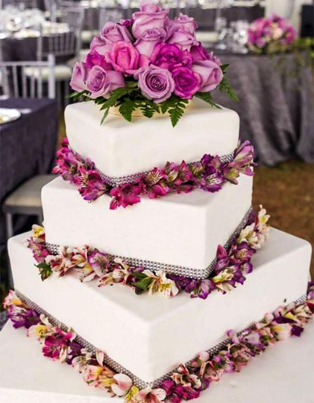 torta para matrimonio elegante tamaño mediano
