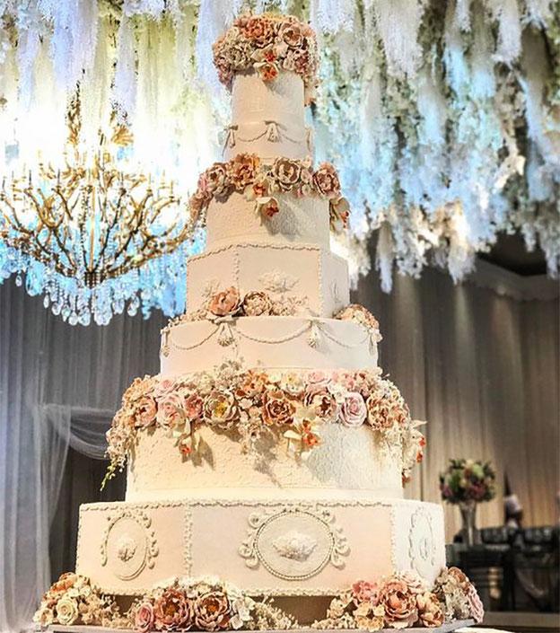 torta grande elegante para boda
