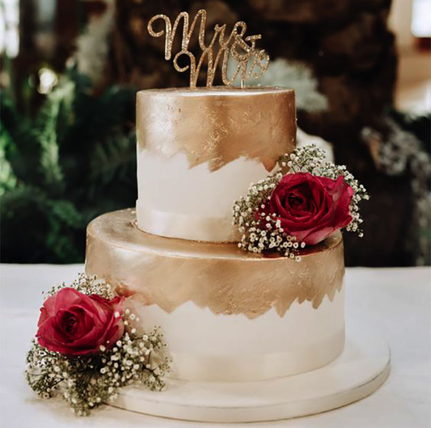 torta para matrimonio elegante tamaño chico