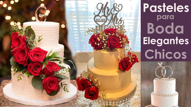 pasteles para boda elegantes tamaño chico