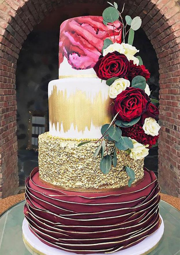 pastel-para-boda-elegante-tamaño-mediano