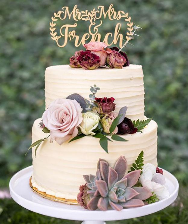 pastel para boda tamaño chico