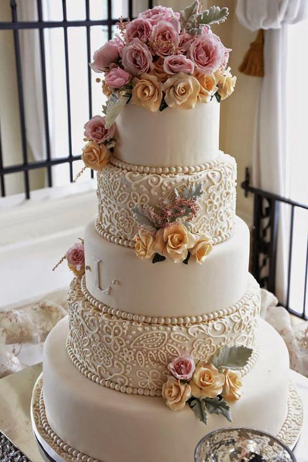 torta para matrimonio elegante tamaño grande