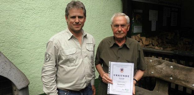 Ehrung für Gerd Loh vom Landesjagdverband Hessen
