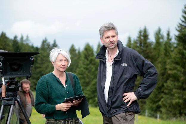 Regisseurin Alice Agneskirchner mit Kameramann Johannes Imdahl. Quelle: BROADVIEW Pictures
