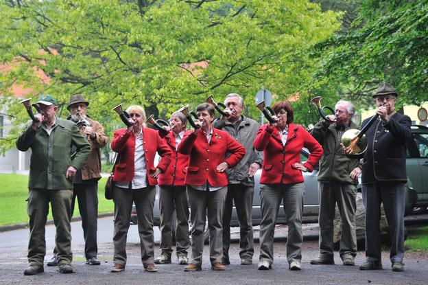 Bläsergruppe des Jagdvereins Hubertus Gießen