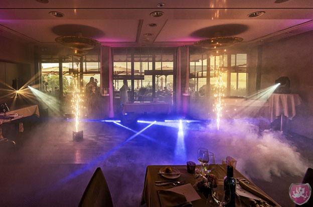 Indoor Feuershow Hochzeit Hotel Sonne Eich