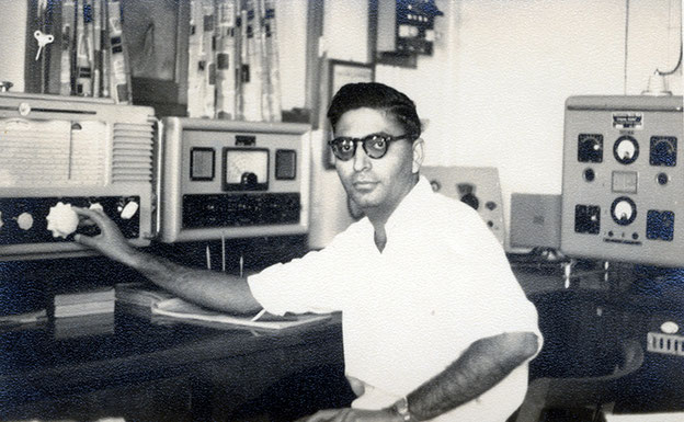 Sam Kerawala, probably aboard ship circa 1950's. Courtesy of the Jessawala Collection - AMB Archives, Meherabad, India.