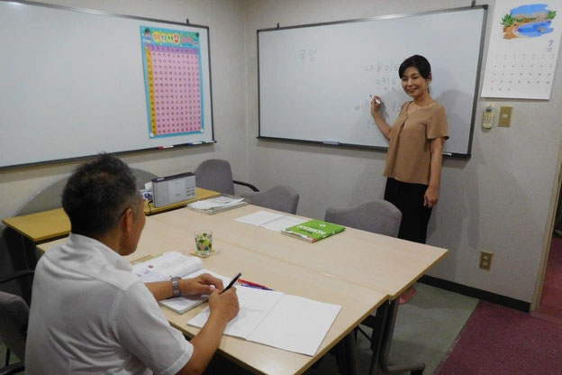裕美先生の授業風景