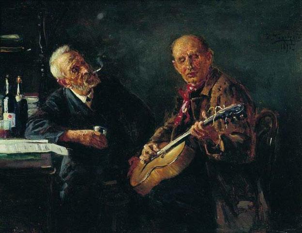 """Konstantin Egorovič Makovskij, """"Amici"""" (1895)"""