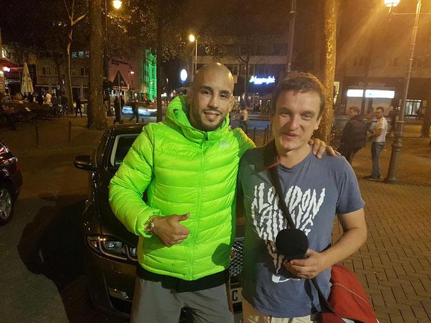 MMA-Fighter Abu Azaitar mit Thilo Guschas auf den Kölner Ringen