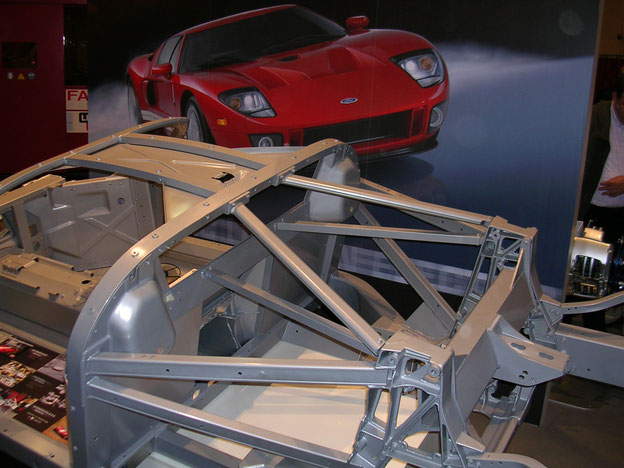 Aluminium spaceframe of the Ford GT