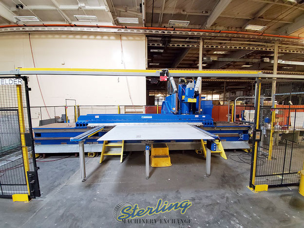 The FSW machine while being used in commercial production of aerospace components