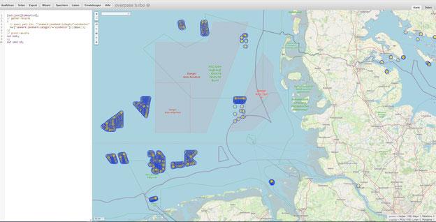 Offshore-Windkraftwerke an der deutschen Küste