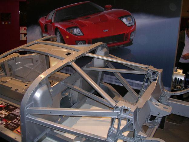 Aluminium-Spaceframe des Ford GT