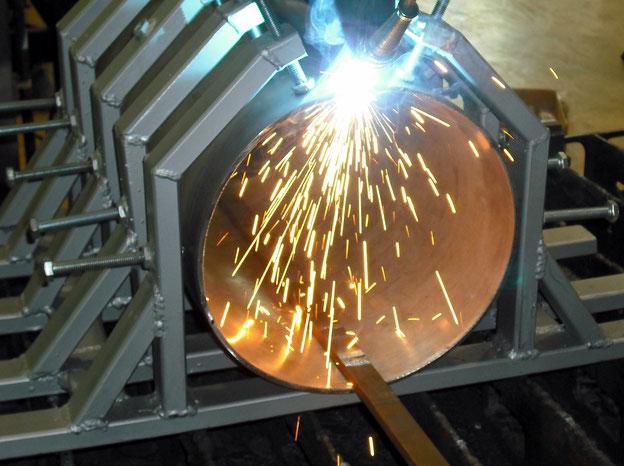 Laserschweißen einer Rohrleitung